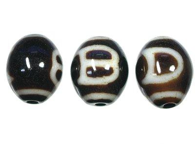 日月紋天珠 s 12x15 天然石ビーズ パワーストーン